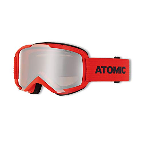 Atomic Savor M, Maschera da Sci all-Mountain Unisex Adulto, Rosso-Blu/Argento Flash, Medium Fit