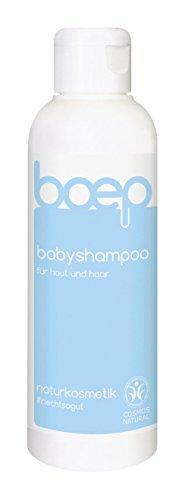 boep babyshampoo – natürliche 2 in 1 Pflege für Haut und Haar – zertifizierte Naturkosmetik, liebevoll entwickelt von einer Ärztin und Mama – veganes Shampoo und Duschgel (150ml)
