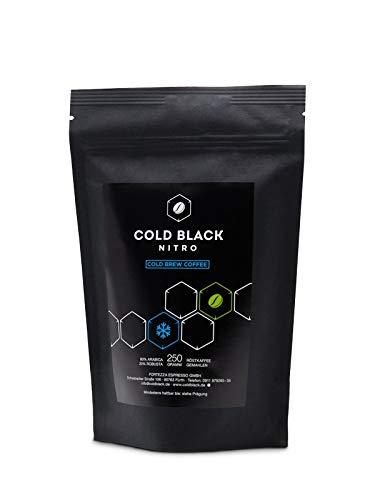 NEU - Cold Black Nitro - Cold Brew Coffee - Cold Drip Kaffee - NATÜRLICHER PRE WORKOUT BOOSTER - sehr starker Kaffee - gemahlen in Premium Qualität