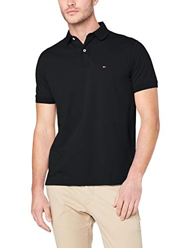 Tommy Hilfiger Herren CORE Tommy Regular Polo Poloshirt, Schwarz (Flag Black 032), X-Large