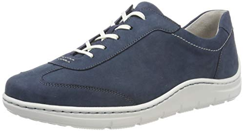Waldläufer Damen Hassi Oxfords Blau (Denver Jeans 206) 40 EU(6.5 UK)