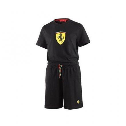 waooh-fashion-kinder-set-ferrari-short-und-t-shirt-official-schwarz-12-jahre