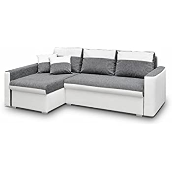 Eckcouch modern mit schlaffunktion  Ecksofa Aris mit Bettfunktion Eckcouch Schlaffunktion Sofa Couch ...