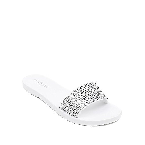 Ideal Shoes ,  Infradito donna Bianco