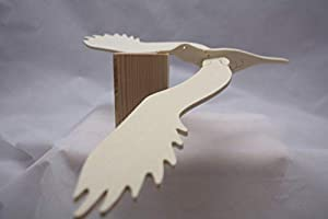Los Juguetes del Queyras-Juego de Equilibrio de Madera-el pájaro Mosca