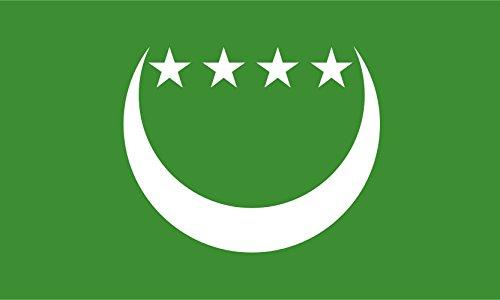 Comoros 1992-1996 Bandiera 20x30cm per Diplomat-Flags Bandiere
