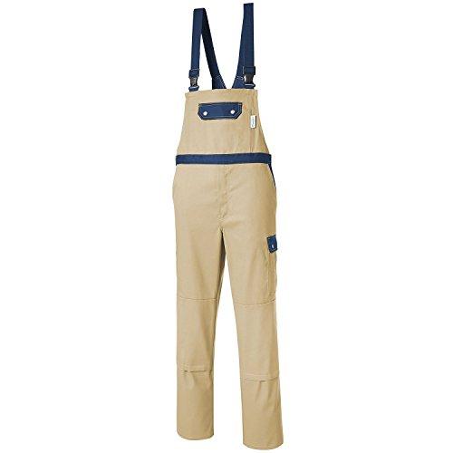 PIONIER WORKWEAR Herren Latzhose Top Comfort Stretch in beigeblau (Art.-Nr. 2427) khaki/marine,Größe 42