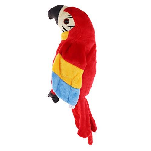 KESOTO Sprechende Plüsch Papagei Stofftier - Rot