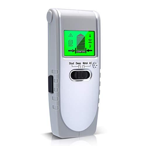 Ortungsgerät Wand Scanner 4 in 1 Digital Leitungssucher Wand Detektor mit LCD Display zur Bolzen/Hölzer/AC-Kabel/Metalle Detektion(Batterie enthalten)