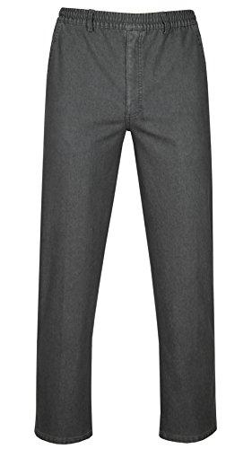 Stretch-Thermo-Jeans Schlupfhose ohne Cargo-Taschen - Kurzgrösse-Grau-M