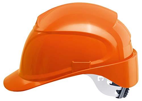 Uvex Airwing B-WR Schutzhelm für die Baustelle - Drehrad und Langer Schirm - Orange
