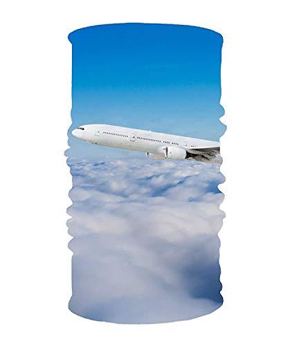 Rghkjlp Flying Aircraft 16-in-1 Magic Scarf, Gesichtsmaske, Balaclava Bandana für Outdoor Sports Unisex 3