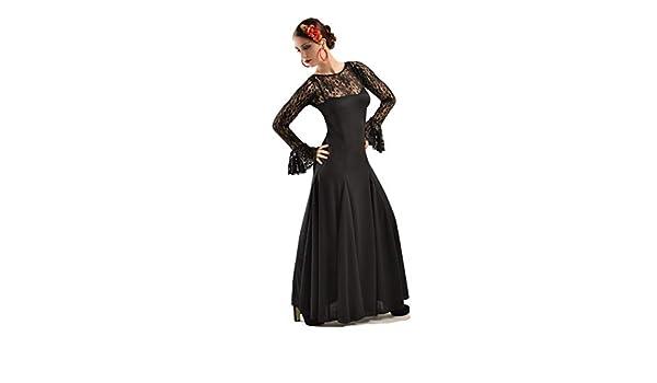 ANUKA Vestito Flamenco da Donna Tessuto Elasticizzato e Morbido Prodotto in Spagna.