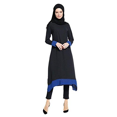Gebet Dame (Zhuhaixmy Muslim Turkey Dubai Ethnische Kleidung Middle East islamisch Kaftan Lange Ärmel Abaya Malaysia Party Cocktail Gown Kirche Gebet Kleid)