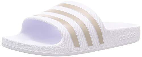 Adidas adilette aqua, scarpe da ginnastica unisex-adulto, ftwr white/platinum met./ftwr white, 39 eu