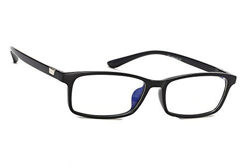 MFAZ Morefaz Ltd Damen Herren Blaulichtfilter Brille Blendschutz, Anti, Kratzfestes Objektiv Computer TV Anti Glare Glasses (Black T8001)