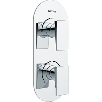 Bristan SAI SHCVO C - Válvula de ducha termostática empotrable de doble...