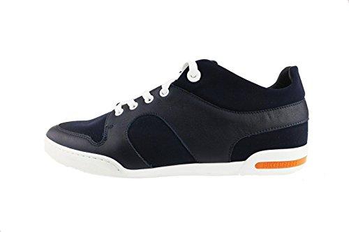 BIKKEMBERGS sneakers uomo blu tessuto pelle AH743 (45 EU)