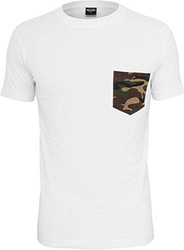 Urban Classics Herren T-Shirt Rundhals white/camouflage