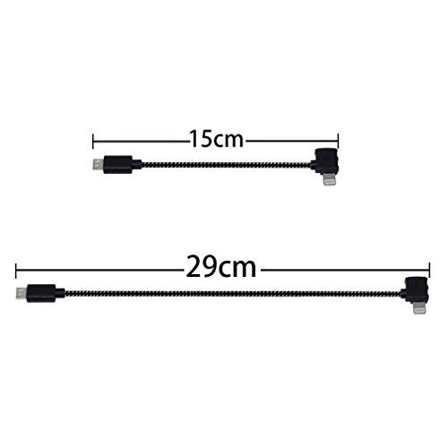 Anbee Nylon Geflochten Spark Sendegerät Lightning Kabel / Android Micro-USB / USB Type-C Kabel für...