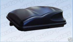 Autoplas Large 415 litre Universal Car Top Mounted Roof Box Black