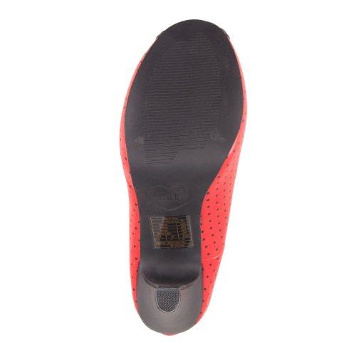 T.U.K. Peep Toe A8179L red-black Red