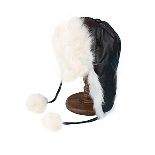 Nosterappou Winter Dome Leifeng Cap, Fourrure épaisse, Bonnet d'hiver, Bonnet de Neige de Ski Chaud et Confortable, Un Beau Bonnet, C'est Le Cadeau Parfait