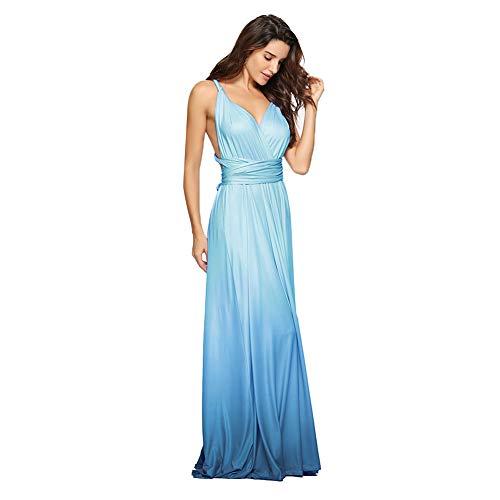 IBTOM CASTLE Damen One-Shoulder Kleid Large Gr. X-Large, Blue Gradient