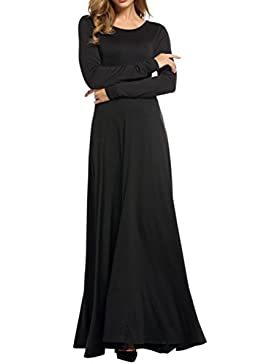 Le Donne Eleganti A Maniche Lunghe Scollato Dietro Un Maxi Bowknot Vintage Scollato Vestito
