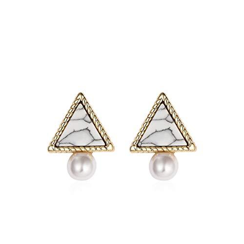 Lan chen orecchini geometrici semplici triangolo orecchini femminili temperamento personalità selvatici piccoli orecchini gioielli orecchio (colore : b)