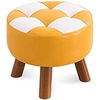 MO XIAO BEI Square Hocker Small Hocker Change Schuhbank Hocker Low Hocker Sofa Hocker Massivholz Esszimmerstuhl Familie (Farbe : Small Round stools) preisvergleich bei kinderzimmerdekopreise.eu