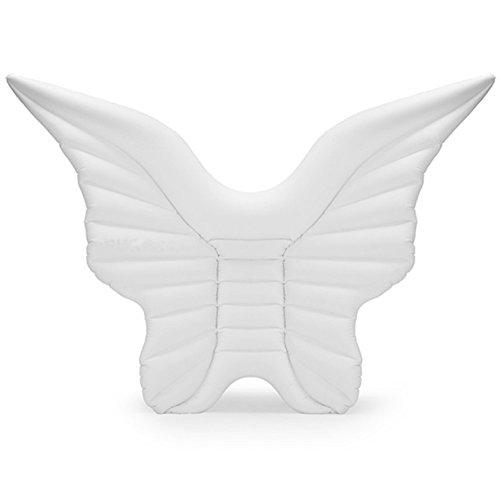 CHENGYI Schwimmendes Bett, Aufblasbare Angel Wings Floating Row, Schwimmbad Float aufblasbare Spielzeug Erwachsene & Kind schwimmende Bett Wasser Erholung Stuhl ( Farbe : White wings )