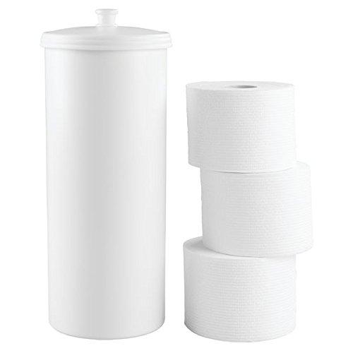 Mdesign portarotolo carta igienica da terra - porta carta igienica per il bagno autoreggente - porta rotolo carta classico - bianco