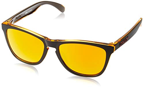 Oakley Men's Frogskins Asian Fit Sunglasses,OS,Matte Black/Fire Iridium