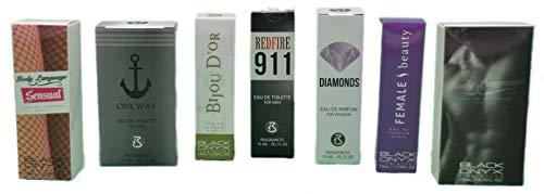 Trend Düfte: Set X 3 (drei) Parfüm für Herren 15 ML jedes einzeln in Box Spray Black Onyx (Eau de Parfum)