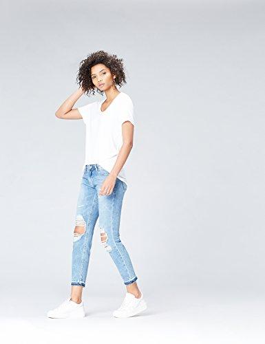 FIND Damen T-Shirt Weiß (White)