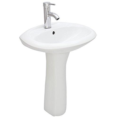 Blupp Serico Standwaschbecken Waschbecken Handwaschbecken Waschtisch Säulenwaschbecken Sanitär Badmöbel Badkeramik aus Keramik in Weiß