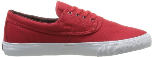 Lakai Camby, Chaussures de skateboard homme Rouge (Red Canvas)