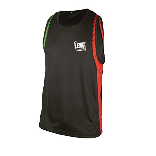 Leone 1947 AB721 Camiseta de Tirantes de Boxeo, Unisex - Adulto, Negro, XL