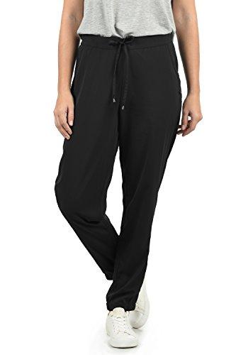 BlendShe Amerika Damen Stoffhose Lange Hose Bequeme Loose Fit Hose, Größe:L, Farbe:Black Solid (20101)