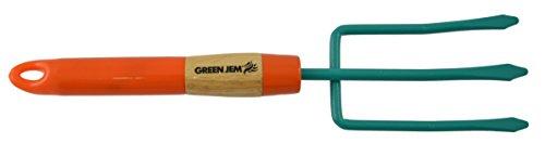 Green Jem Fourche à main, Orange/vert, 34.5 x 8 x 3 cm