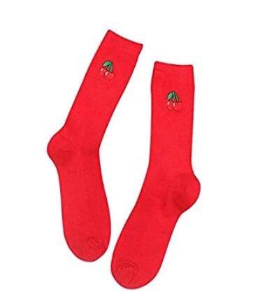 Danapp, modern, Rohr, Baumwolle, klassisch, für Obst, Socken, Strümpfe, Nylon, Red Cherry, 1 - Klassische Tube Socks
