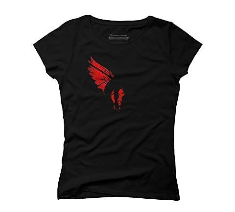 Crimson Villian Women's X-Large Black Graphic T-Shirt - Design By Humans