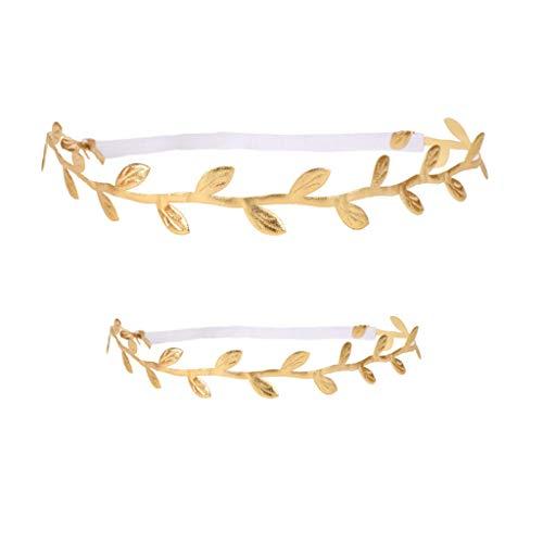 lattgold Haarband Frieden Olivenzweig elastisches Stirnband Fotografie Prop - Baby&Mom ()
