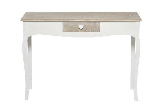 Consolle bianca in legno con richiami country stile vintage L'ARTE DI NACCHI TD-05