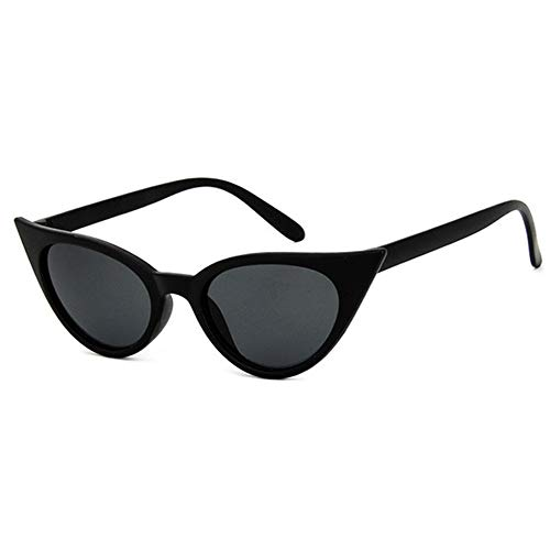 HUWAIYUNDONG Sonnenbrillen,Cat Eye Sunglasses Women Design Vintage Sun Glasses Men Outdoor Goggles Two Sizes (S) Matte Black