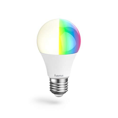 Hama WiFi-Lampe, Aluminium,  E27, 10W, Weiß, 19.5 x 9 x 7.5 cm