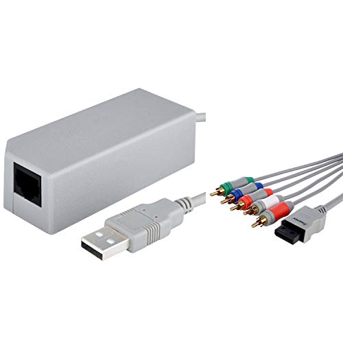 Insten HDTV Component Audio Video Kabel Kabel + USB-Lan-Netz-Adapter kompatibel mit Wii