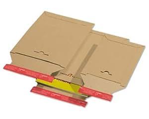 Lot de 1000. Carton Sac de livraison TP310, 175x 250mm, autocollante SK avec aide d'arrachage, Compact, A5, marron