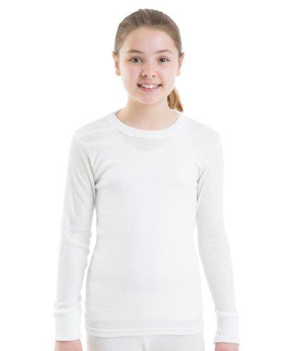 2-Girls-Thermal-Underwear-Long-Sleeve-Vest-White